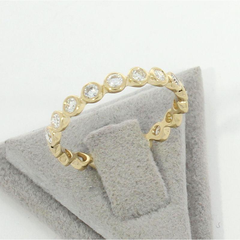 Wert 2260 € Brillant Memory Ring (0,68 carat) in 585er 14 K Gelbgold Größe 56 H357