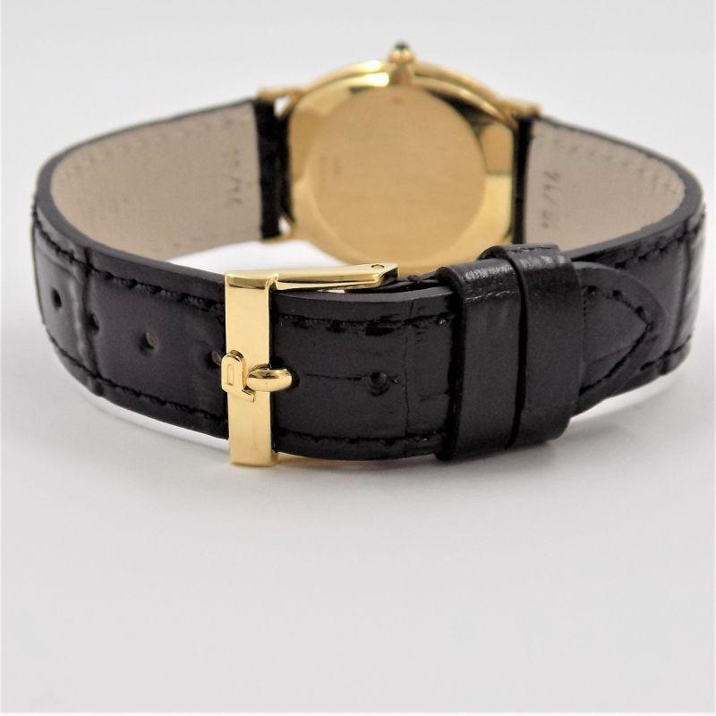 Piaget Vintage Handaufzug Herren Uhr Zertifikat aus 1973 Box 18 Karat Gold Leder - 55850