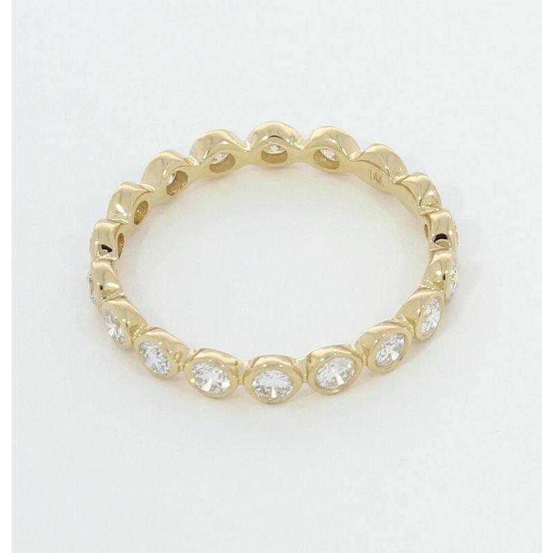 Wert 2260 € Brillant Memory Ring (0,68 carat) in 585er 14 K Gelbgold Größe 53 H597