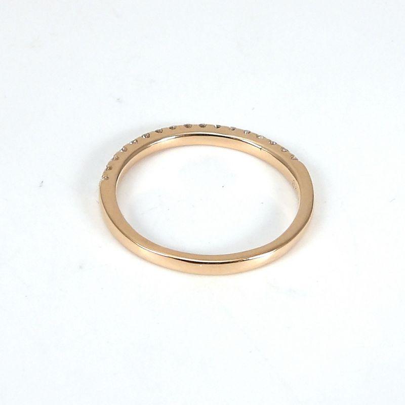 Wert 1000 € Brillant Halbmemory Ring (0,25 carat) in 750er 18 K Rosegold Größe 56