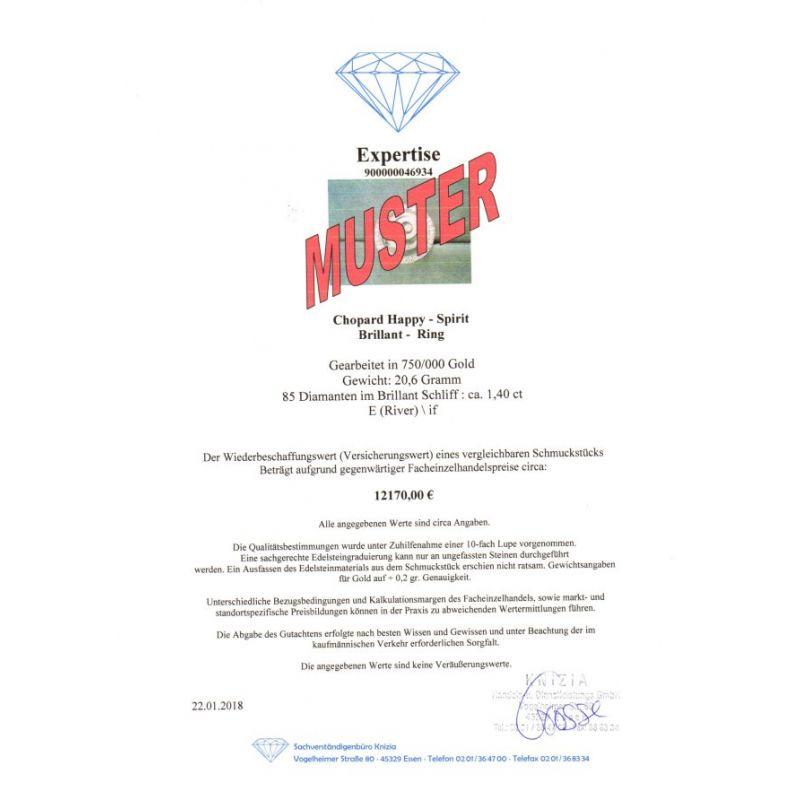 Wert 4750 € Brillant Lapislazuli Manschettenknöpfe (0,04 carat) in 585er 14 Karat Weißgold - 57983