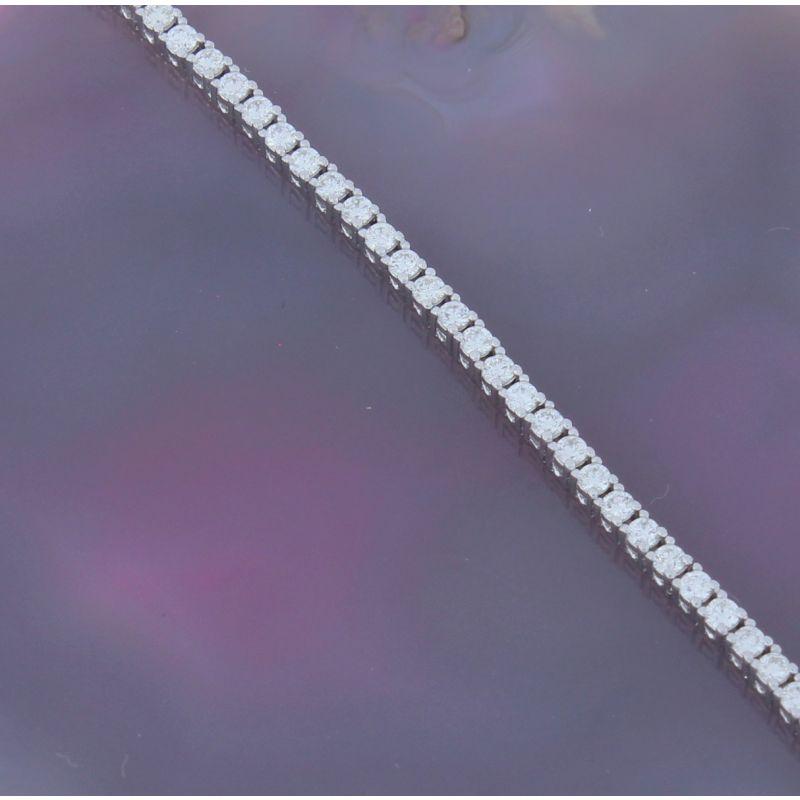 Wert 6700 € Brillant Tennis Armband (2,00 carat) in 750er 18 K Weißgold Länge 19 cm H643