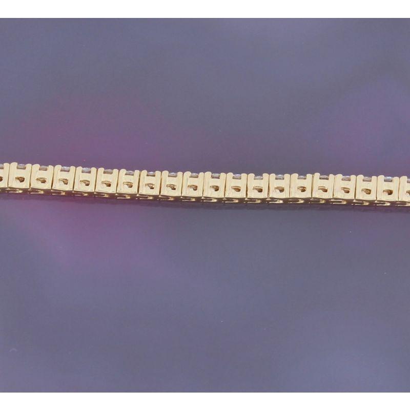 Wert 6700 € Brillant Tennis Armband (2,00 carat) in 750er 18 K Gelbgold Länge 19 cm - H642