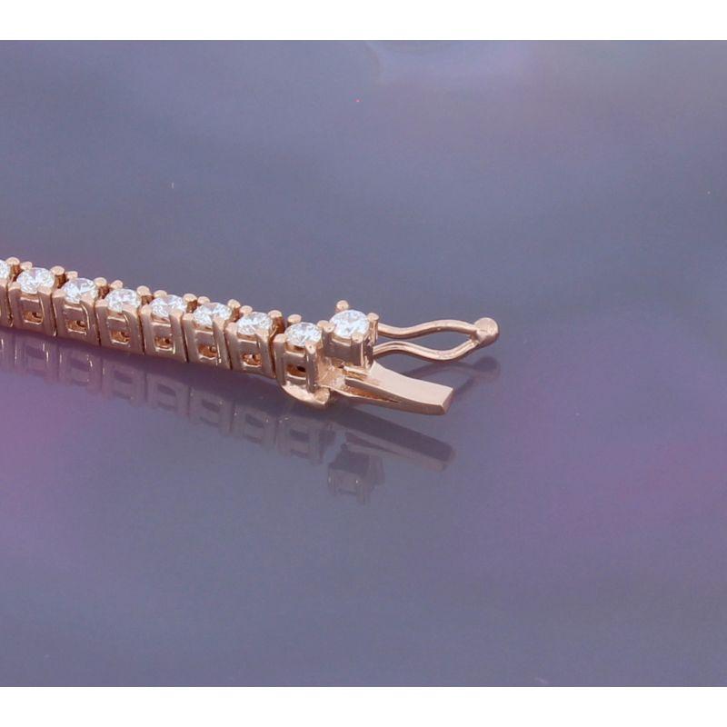 Wert 6700 € Brillant Tennis Armband (2,00 carat) in 750er 18 K Roségold Länge 18 cm H646